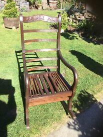 Upcycled Teak Rocking Chair