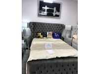 Brand new Luxury&Contemporary beds *ANY SIZE, PLUSH&CRUSH VELVET, FREE DELIVERY FROM £249.99-£299.99
