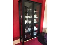 Black wooden display cabinet from IKEA