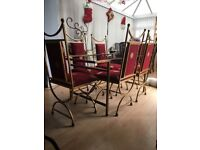 Christmas dining table & 6 chairs - very festive!!!