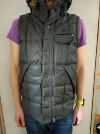 Superdry ton up 58 motorcycle waxed heavyweight gilet bodywarmer size m