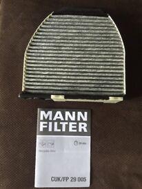 Mercedes W212 E200 E220 E250 Pollen Cabin Filter Mann