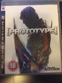 Prototype PS3 game