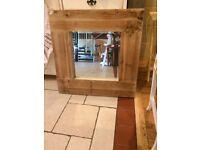 Rustic Wooden Framed Mirror