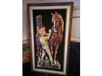 Quirky 1960s Large 3D Wall Art Picture 40 Inches Tall