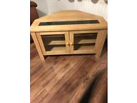 Oak tv stand. SOLD