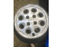 """Ford escort / Sierra 14"""" alloy wheels x 4 with centre caps"""