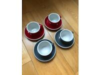 Acme coffee cups and saucers x4