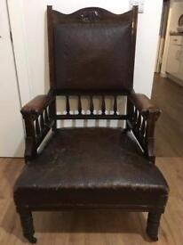 Edwardian reading fire side chair