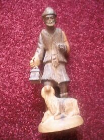Olive Wood Hand Carved Figure