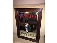 Vintage Retro Advertising Mirror - Dewars Scotch Whisky