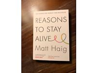 """Brand new copy of """"reasons to stay alive"""" by Matt Haig"""