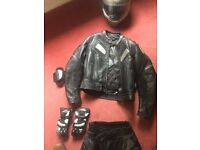 Ladies Leather Richa motorcycle jacket.