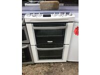 ELECTRLOUX 60CM CEROMIC TOP ELECTRIC COOKER IN WHITE
