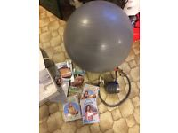 Core exerciser and ball
