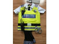 Policeman fancy dress costume 7 to 8 year