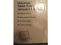 Universal Tablet 10.1'' Folio Jacquard Collection - 'tech air'