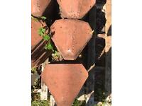 RECLAIMED CLAY VALLEY ROOF TILES X 150