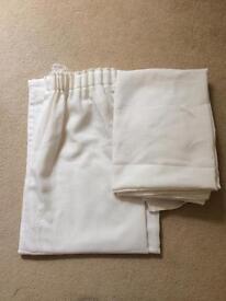 Cream voile curtains