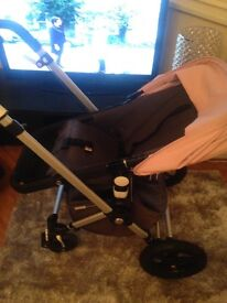 Bugaboo chameleon pushchair with maxi cosi car seat