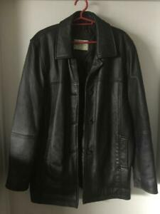 Mens Size Medium Sequence Leather Jacket