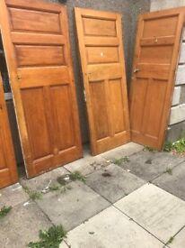 Solid wood panelled Victorian Doors