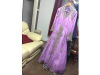 Bridal Party long dress asian lengha Mongas - NEW