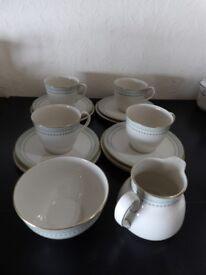 Royal Doulton-Berkshire translucent china, Tea set-teacups, saucers, tea plates, tea and sugar