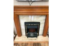Mantle piece with electric fire