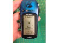 Garmin etrex legend GPS receiver with case