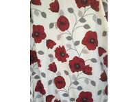 """1 Pair of Dreams 'n' Drapes Poppy curtains fully lined 90"""" x 90"""" Pencil pleat excellent condition"""
