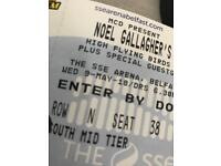 Two Noel Gallagher tickets SSE 9th May