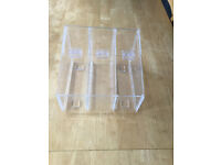 Perspex Pick and Mix acrylic holder with 3 lift up flaps (8 available for sale)