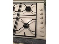Whirlpool gas hob -white 600 wide (standard)