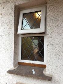 Europlas double glazed obscure leaded window