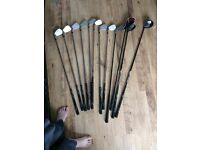 Wilsons st of Golf clubs and bag