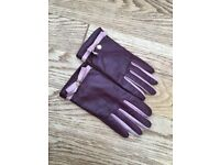 Once worn Dune real leather gloves for sale