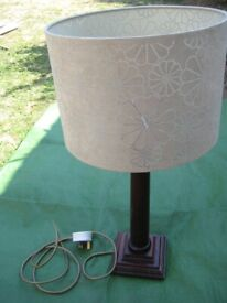 Next Mahogany Table Lamp with Lampshade for £15.00