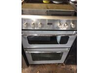 STOVES SILVER/STAINLESS STEEL 60cm ELECTRIC COOKER,4 MONTHS WARRANTY
