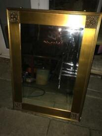 Gold long mirror