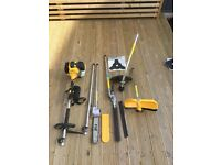 Wolf 4 in 1 hedge trimmer, chainsaw, strimmer & bush cutter. As new