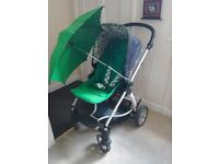Mamas & Papas Sola Buggy with Raincover, Umbrella, Carrycot and Car Adapters for Cybex/Maxi Cosi