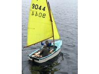 Heron sailing dinghy classic 11ft