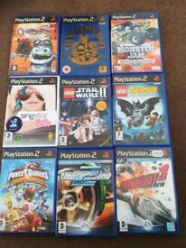 PLAY STATION 1 2 3 AND WII GAMES