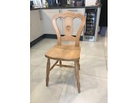 6 pine wood kit hint / dining room chairs