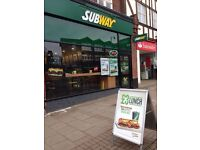 Full Time/Part Time Sandwich Artists - Subway
