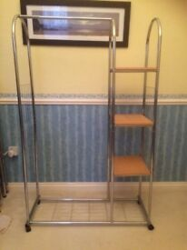 Portable Garment Rack With Selves.