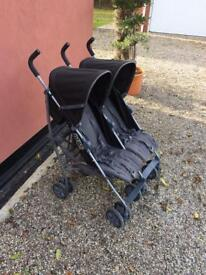 Mamas and papas kato 2 twin double pushchair stroller