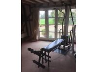 York home gym 2001 fitness system used by previous owner and tunturi bike