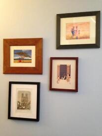 Collection of 4 frames and art